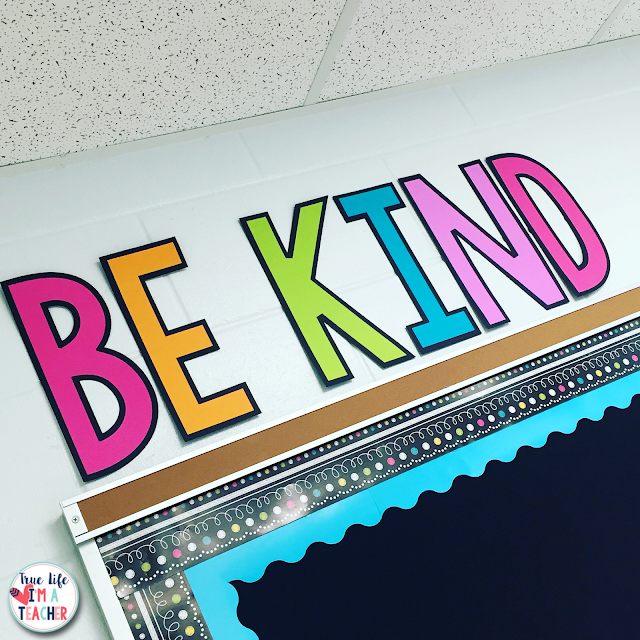 A detailed picture tour of setting up, organizing, and decorating a 1st grade classroom.