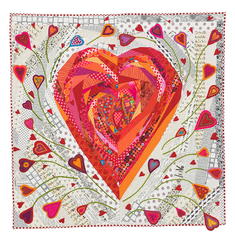 Scraps and threadtales pieces of my heart lessons learned for Red door design quilts