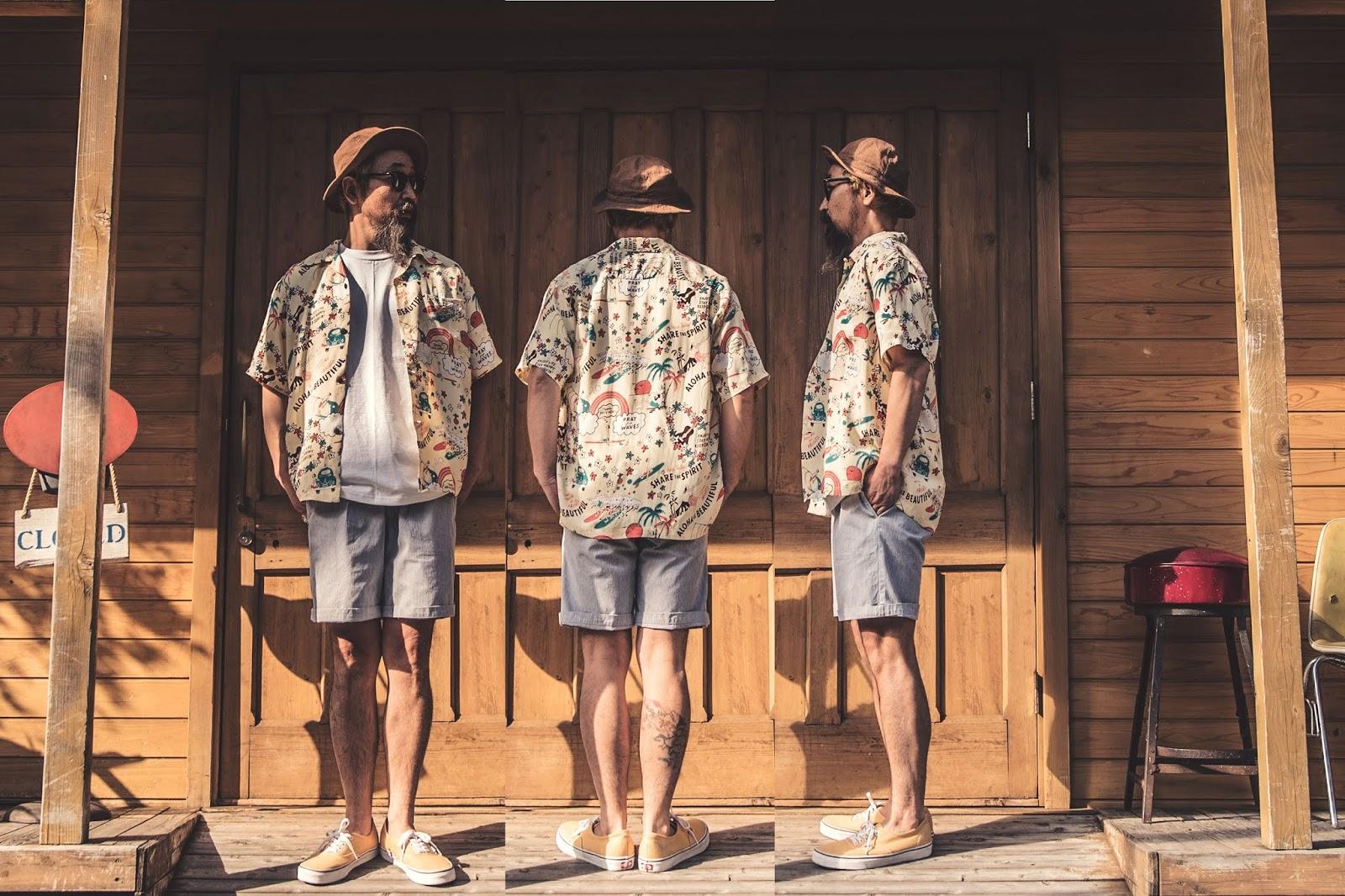 アロハ ヴィンテージ ハワイアン PALM GRAPHICS ウッドカット ケオニ ジョンメイグス シャツ 東洋 サンサーフ アロハシャツ 日本製 シュガーケーン 着こなし コーディネート