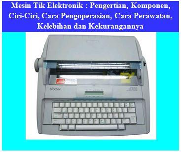 mesin tik elektronik