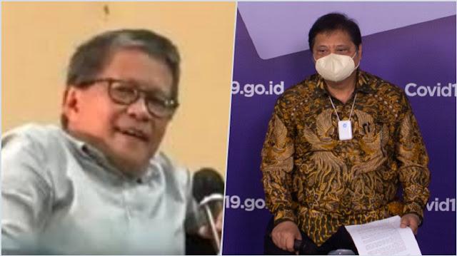 Menko Airlangga Rahasiakan Positif COVID-19, Rocky Gerung: Saya Harus Sebut Biadab!