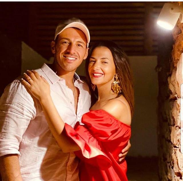 احتفال دنيا سمير غانم بزوجها