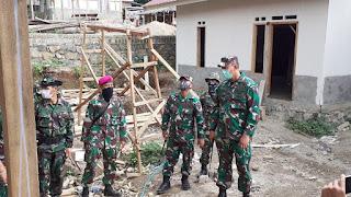 Danrem 162/WB Tinjau Progress RTG Dan Beri Semangat Satgas Rehab Rekon
