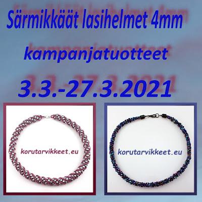 Kampanjatuotteet - Tsekkiläiset särmikkäät fasettihiotut lasihelmet 4mm edullisesti - helmikauppa