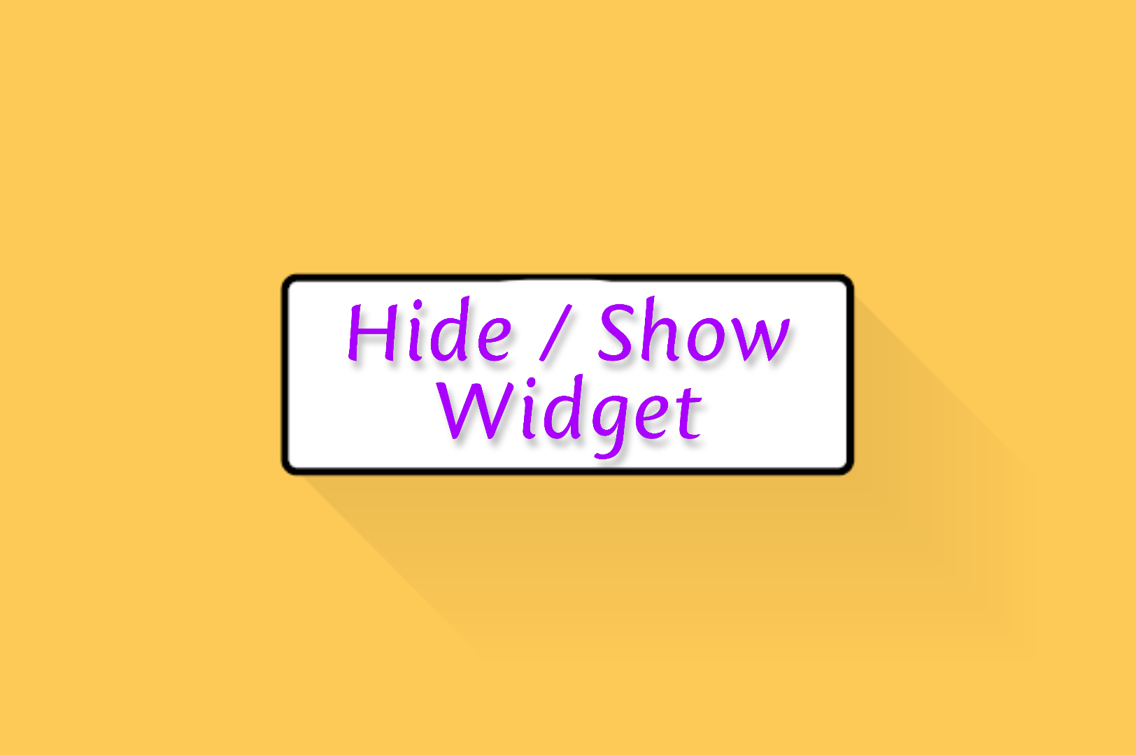 Hide / Show Widgets on Specified Pages on the Latest Blogger