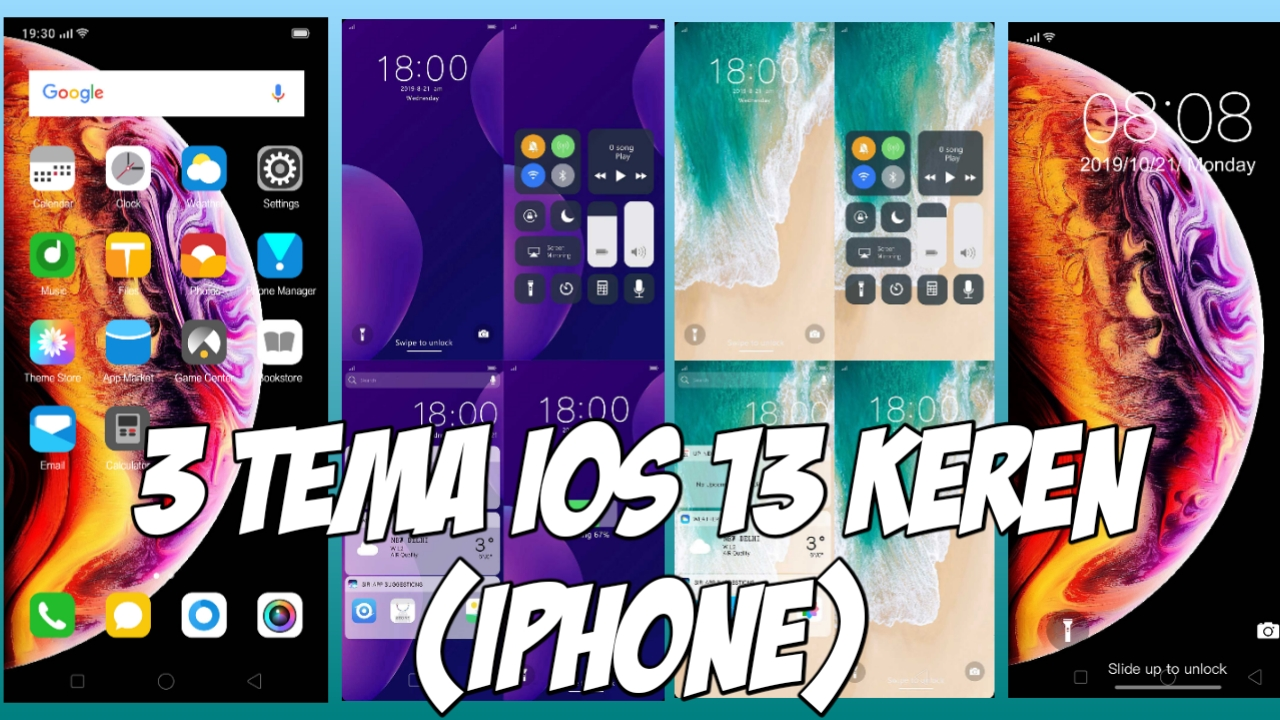 Tema iOS 13 iPhone OPPO & Realme