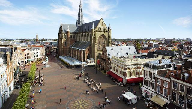 Viagem de trem de Amsterdã à Haarlem