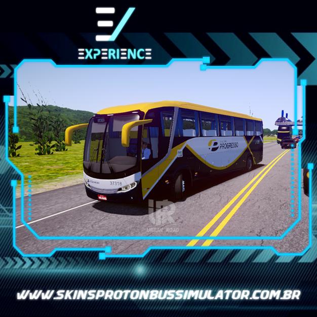 Skins Proton Bus Simulator Road - Comil Invictus MB O-500 RS Viação Progresso