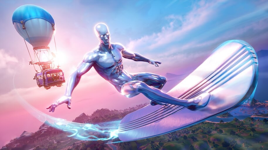 Fortnite, Silver Surfer, Marvel, 4K, #3.2642