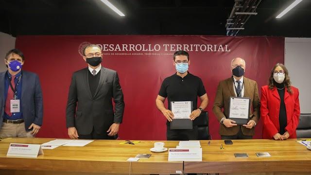 FIRMAN SEDATU Y SCT CONVENIO DE COLABORACIÓN PARA IMPULSAR ACCIONES DE MOVILIDAD