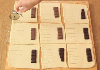 فطائر محشية بالشوكولاته بدون بيض