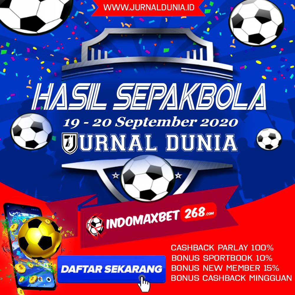 Hasil Pertandingan Sepakbola Tanggal 19 - 20 September 2020