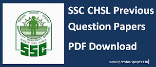 SSC CHSL Previous Question Papers - Online test/ CBT