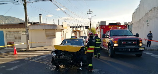 accidente en Carcelen Industrial