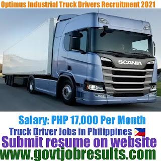 Optimus Industrial Truck Driver Recruitment 2021-22