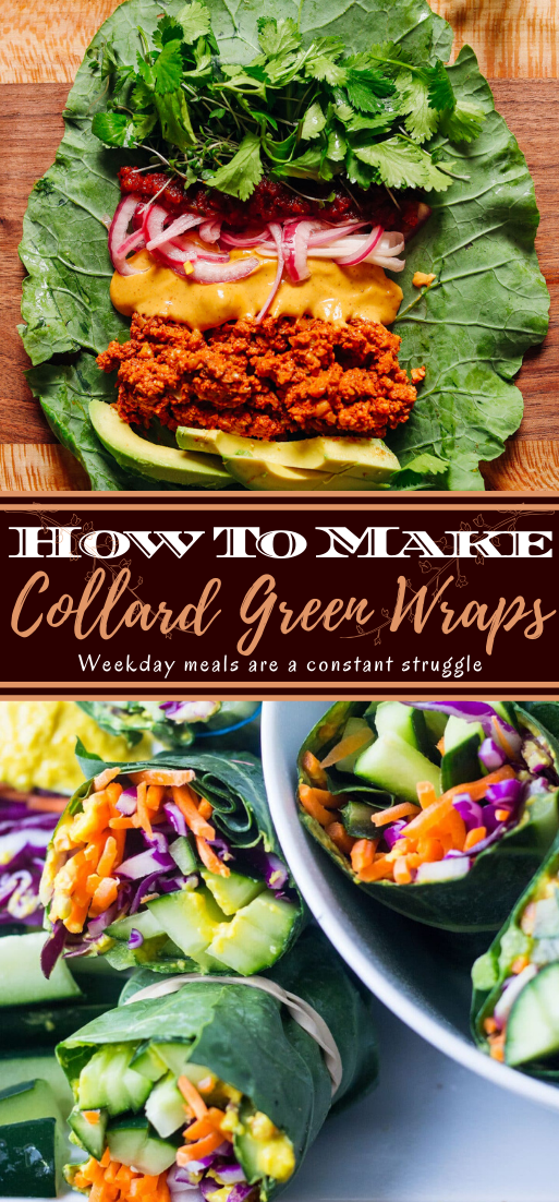 Collard Green Wraps #vegan #vegetarian #soup #breakfast #lunch