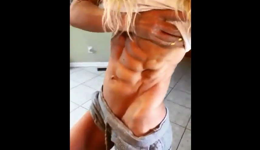 Video Girl with Muscle, Female Bodybuilder, fitness industry