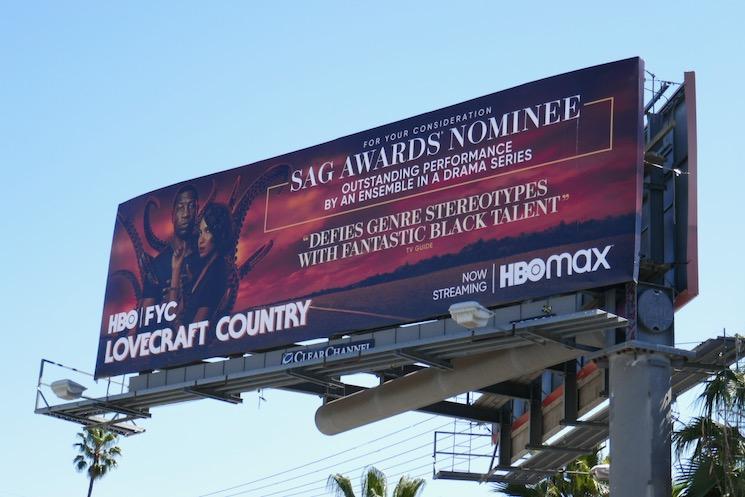 Lovecraft Country season 1 SAG Awards nominee billboard