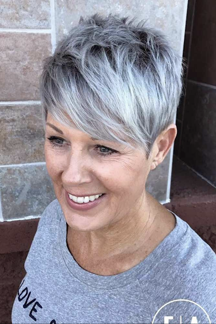 short haircuts and hairstyles for older women 2020