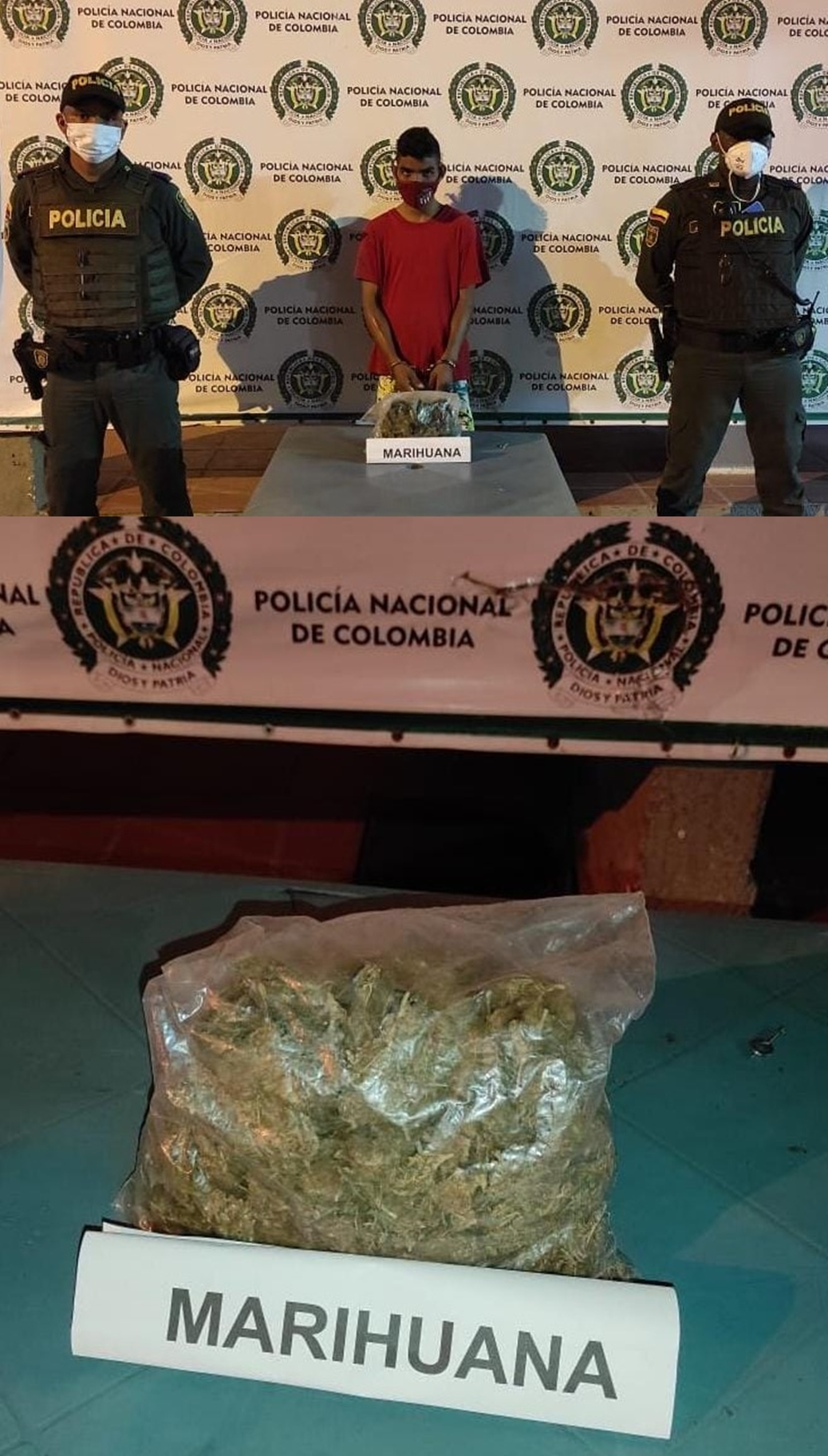 hoyennoticia.com, Lo pillaron con un kilo de marihuana