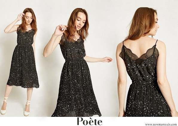 Queen Letizia wore Poete midi dress