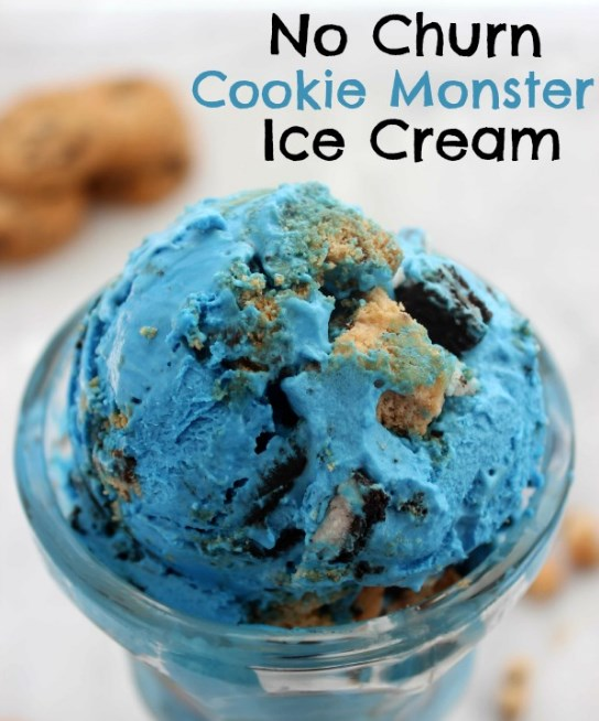 Cookie Monster Ice Cream #icecream #desserts