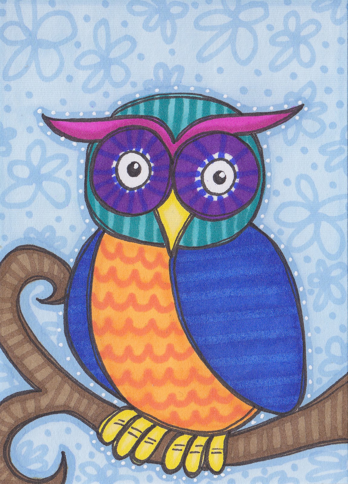 Drawings Birds And Owls