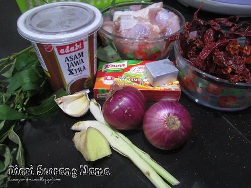 Resepi Ayam Asam Pedas Mudah dan Ringkas