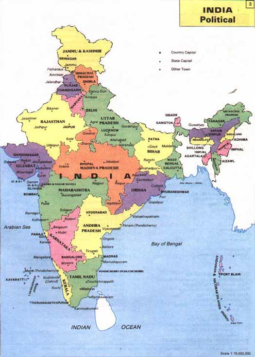 India Geographical Maps Of India Global Encyclopedia