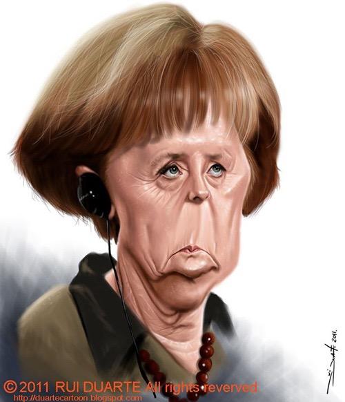 Angela Merkel por Rui Duarte