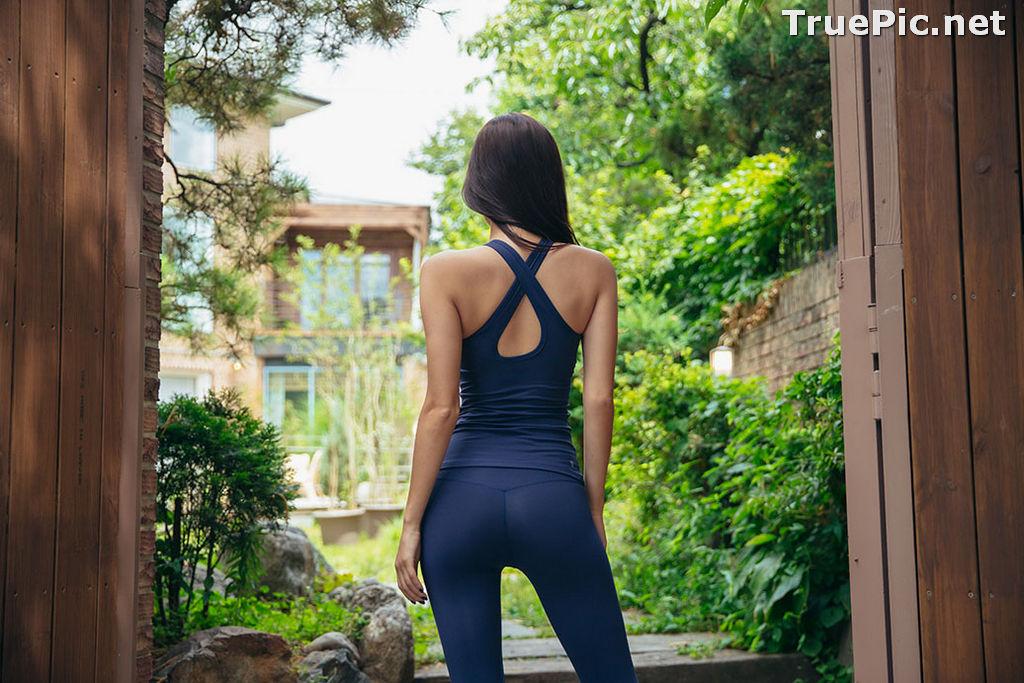 Image Korean Fashion Model - Park Da Hyun - Navy Sportswear - TruePic.net - Picture-20