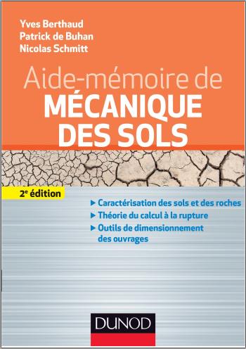 Livre : Aide-mémoire de mécanique des sols - Yves Berthaud, Dunod PDF