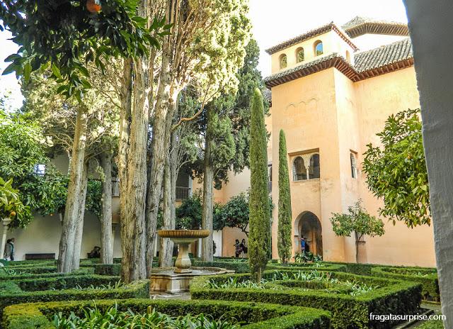 jardim dos Palácios Násridas, na Alhambra