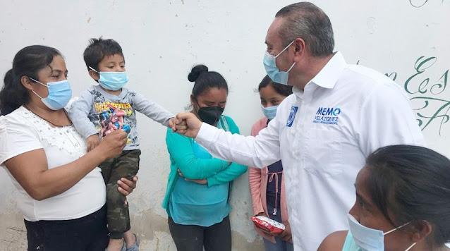 Visita Velázquez comunidades más pobres de Atlixco