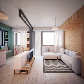 Diseños de Salas modernas para ahorrar espacios
