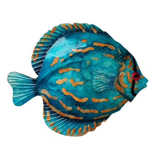 Coastal Discus Fish Metal Wall Decor 1 of 4