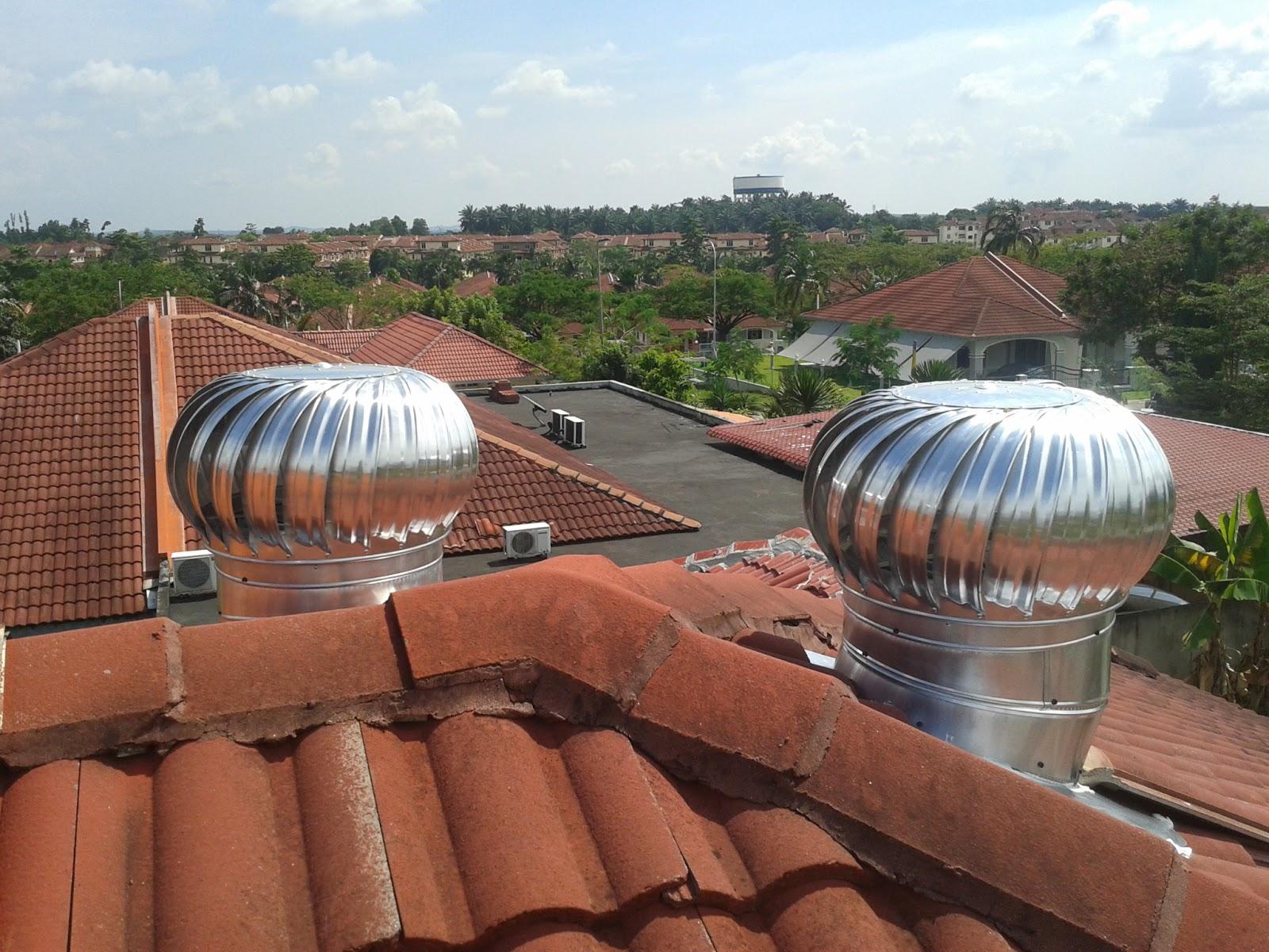 Pemasangan Solar Ventilator Dan Turbine Ventilator