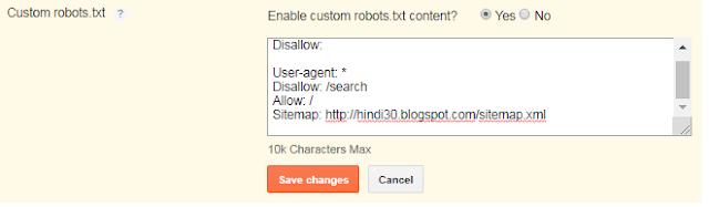 custom robots.txt