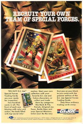 full page ad for GI Joe trading cards. Image source: www.yojoe.com