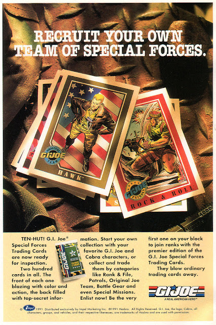 full page ad for GI Joe trading cards. Image source: www.yojoe.com