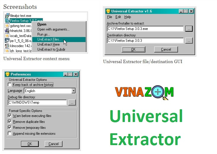 Giải nén file exe với Universal Extractor