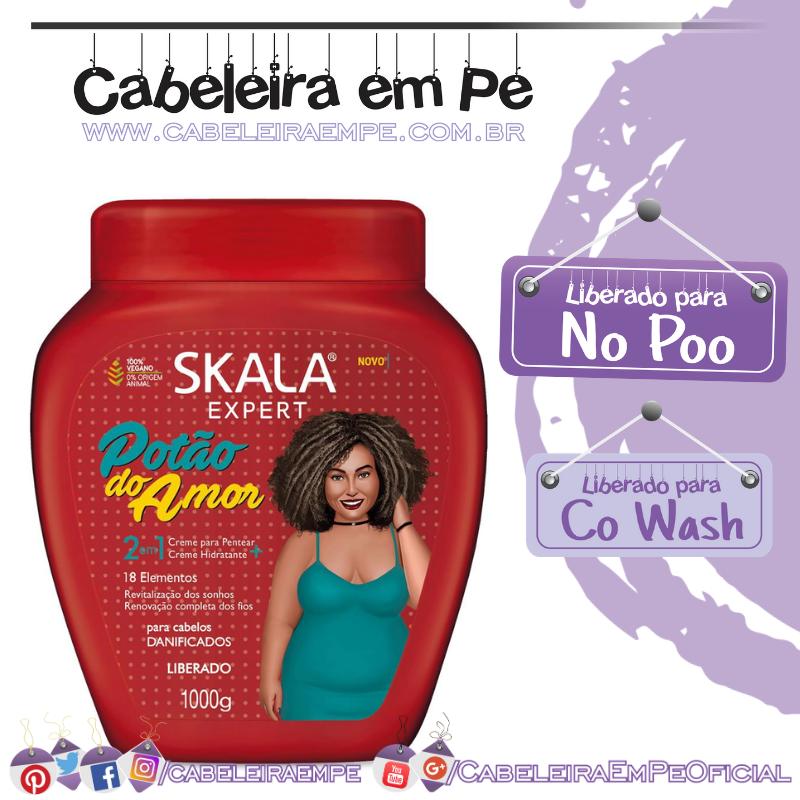 Potão do Amor Creme para pentear + Creme Hidratante - Skala (No Poo)