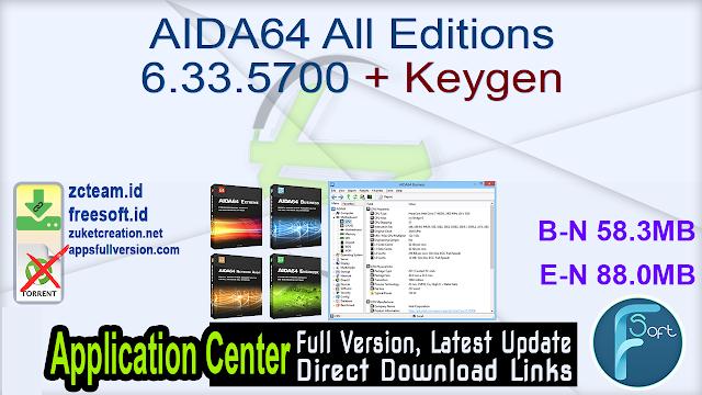 AIDA64 All Editions 6.33.5700 + Keygen