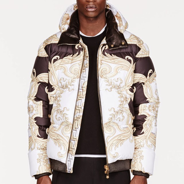 The Game Wearing Versace White Amp Gold Quilted Feather