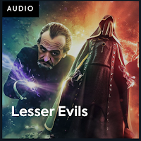 cover art for Doctor Who and the Lesser Evils