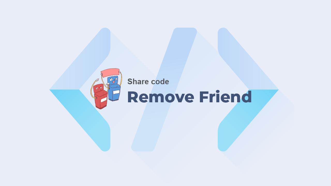 Code xóa tài khoản Facebook đã bị khoá trong danh sách bạn bè