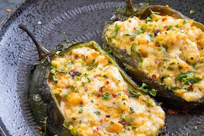 Cajun Shrimp Stuffed Poblano Peppers Recipes
