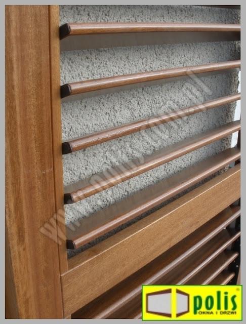 regulowane szczebliny, okiennice drewniane, producent,