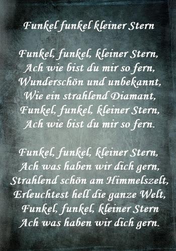 Text Funkel Funkel Kleiner Stern