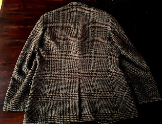 Ralph Lauren Glen Check Tweed jacket back view
